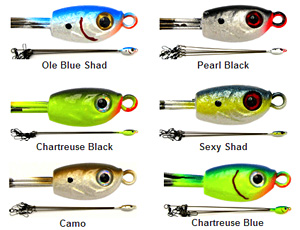Manns Slick Lures Alabama Rig color chart